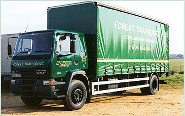 Forest Transport, UK and European Express Road Haulage, distribution, open storage, south coast, professional quality service, secure storage, box vans, curtainsiders, artics, tail lifts, event touring, horticultural industry, engineering, pharmaceuticals, RHA & CMR cover, Same day full loads, Marchwood, Southampton, Hampshire, UK
